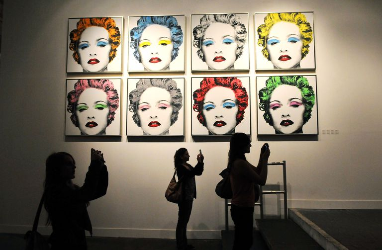 An artwork featuring Madonna by controversial Los Angeles based French pop artist