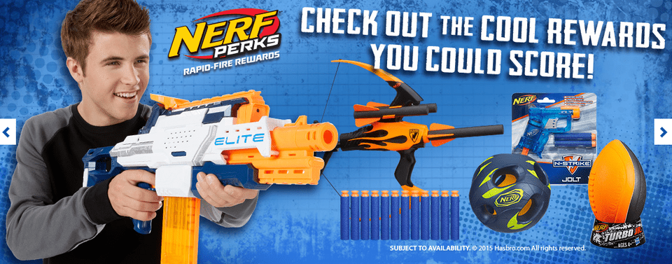 Nerf Perks Rewards Promo Image