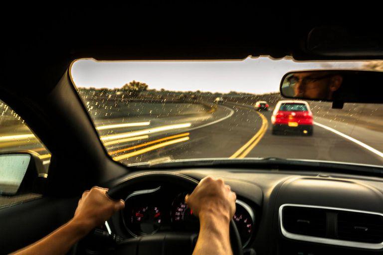 Driver Following Car