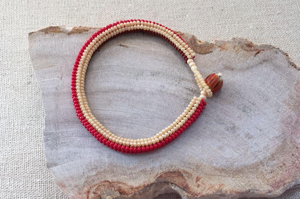 tubular herringbone bracelet instructions