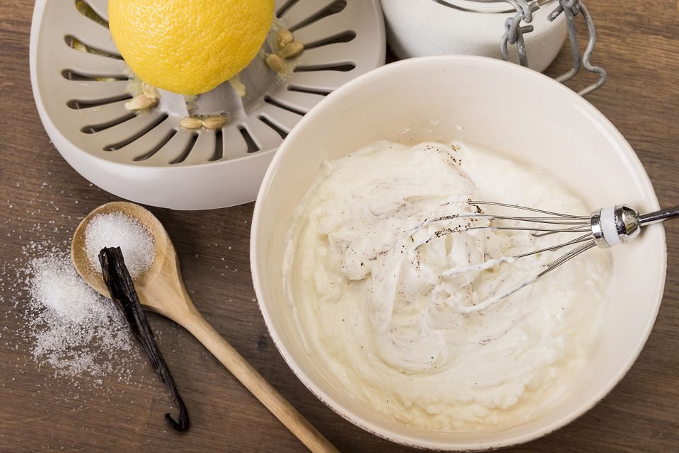 lemon and whipped cream