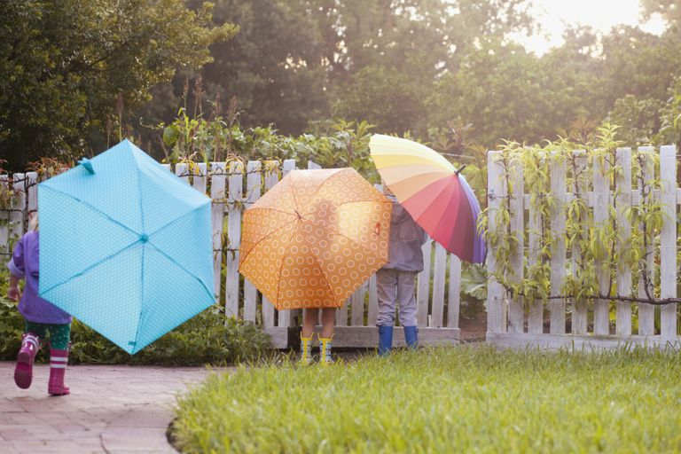 Colorful umbrellas - spring activities