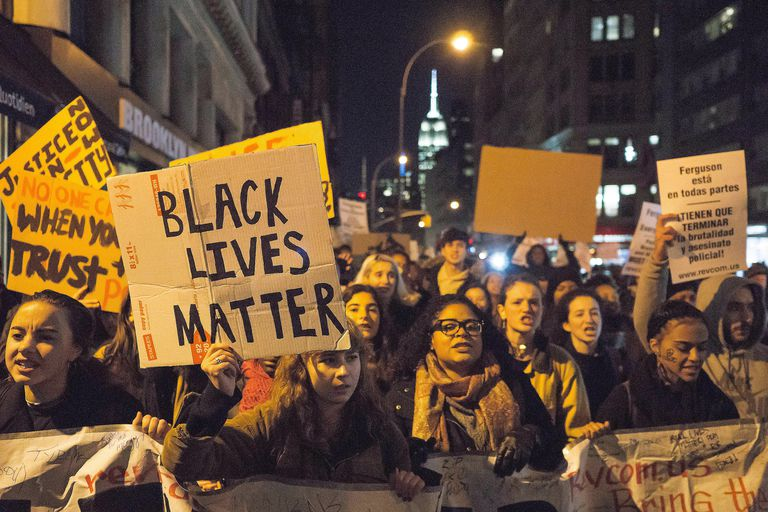 Members of the Black Lives Matter movement demonstrate human agency as resistance to the socio-structural forces of systemic racism.