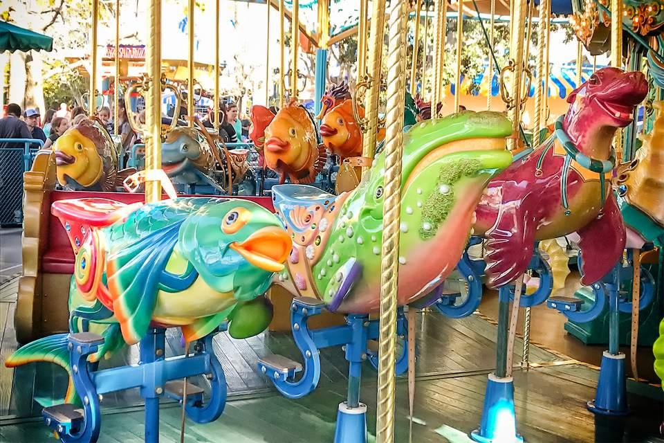 King Triton's Carousel at Disney California Adventure