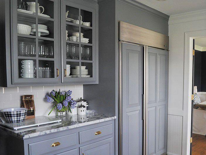 painting kitchen cabinets. Beautiful Lampblack Painted Kitchen Cabinets Cabinet Ideas