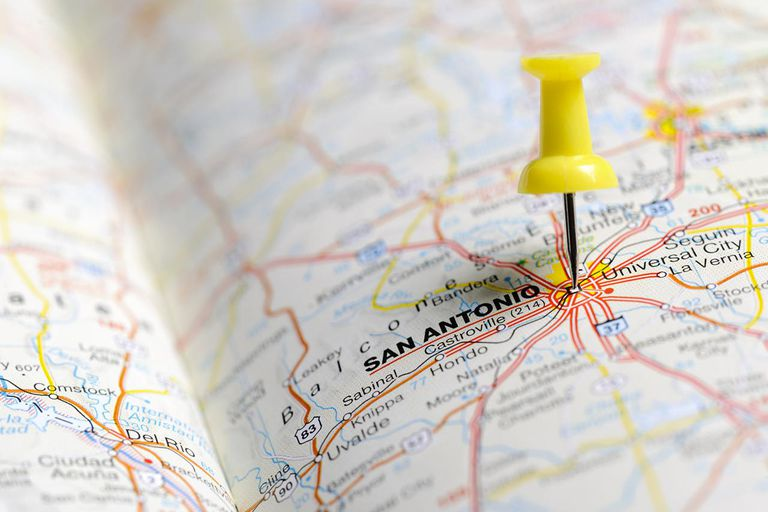 San Antonio on map