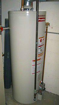Calentador de agua a gas - Tipo tanque