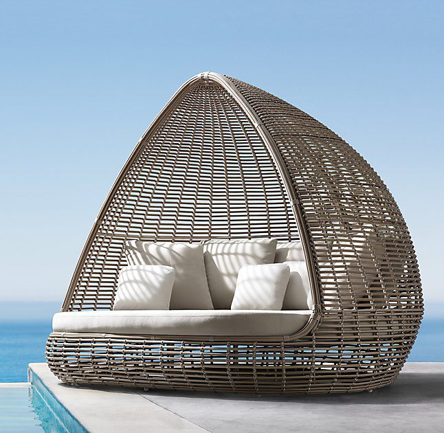 wicker day bed