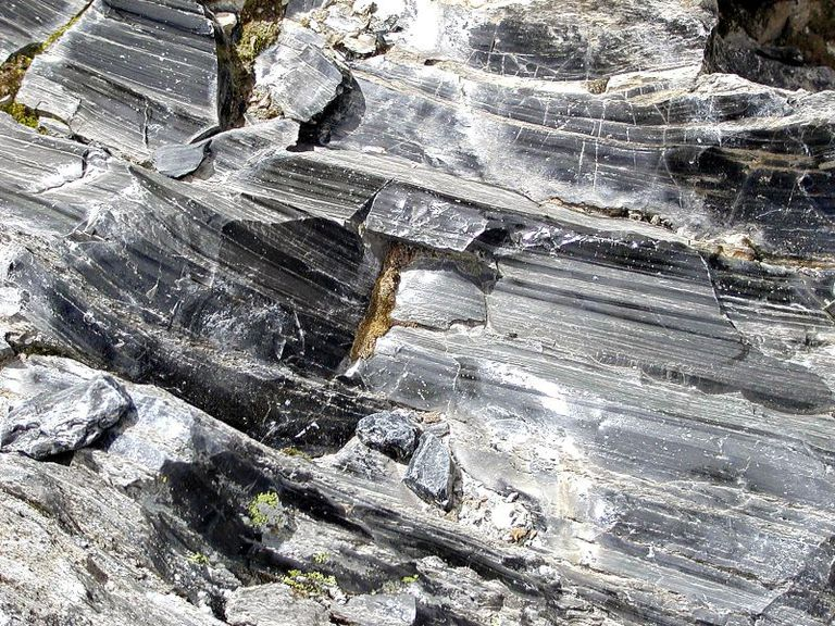 Obsidian Outcrop, Obsidian Trail in Newberry Volcanic Monument, Oregon