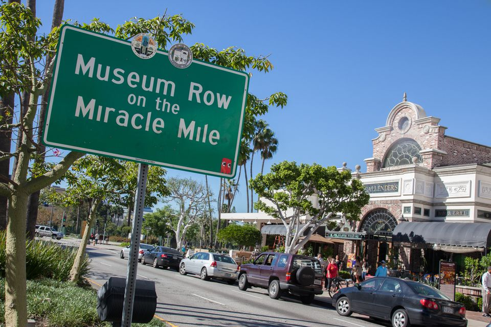 Museum Row sign on the Miracle Mile