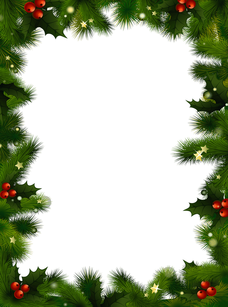 487 Free Christmas Borders and Frames