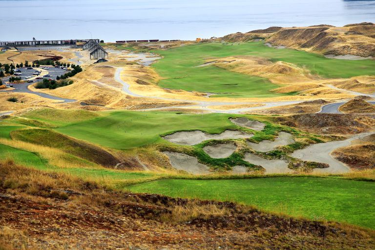 General view across Chambers Bay golf course