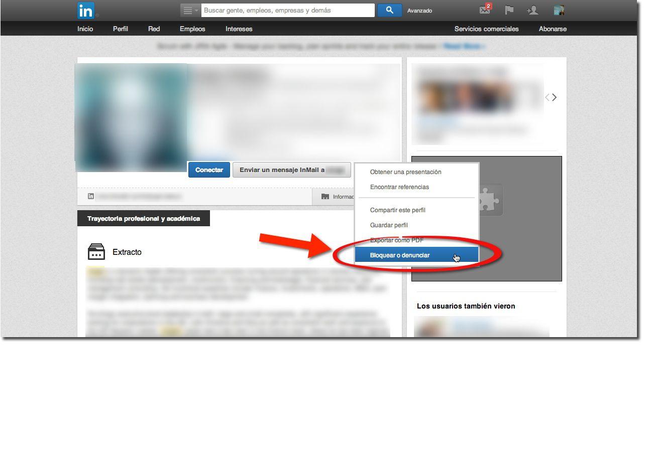 Cómo bloquear a una persona en LinkedIn