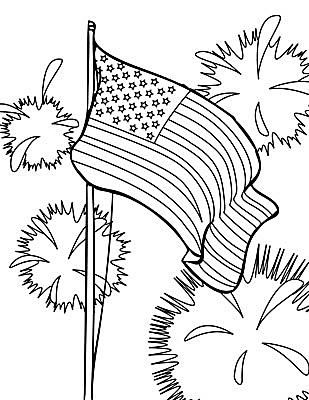 sheknows 4th of july coloring pages - 4th Of July Coloring Pages