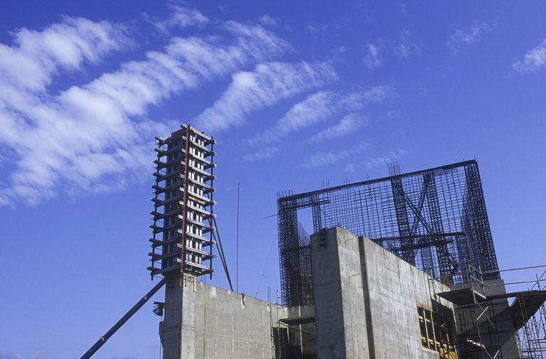 Concrete structure under construction.