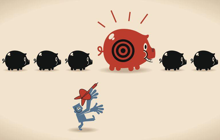 Target on Piggy Bank