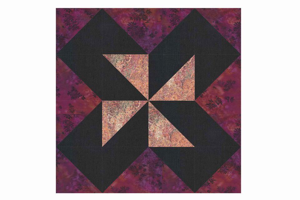 Shimmering Pinwheels Quilt Block Pattern