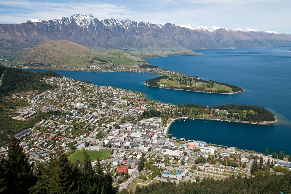 Queenstown NZ aerial