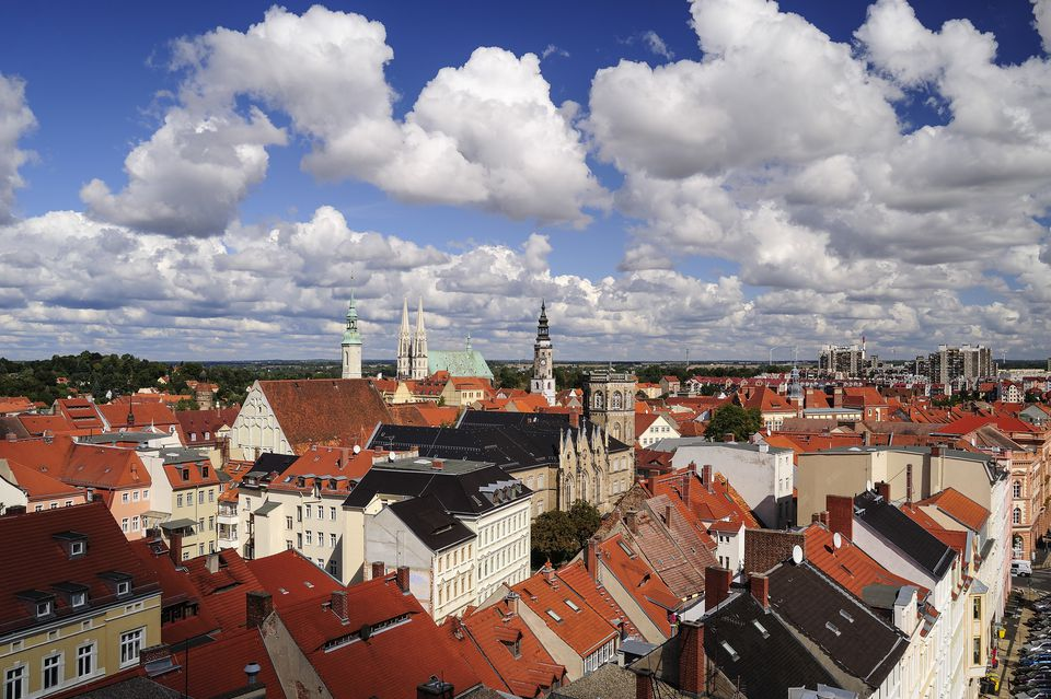 Germany, Saxony, Goerlitz, View over the rooftops of the old town