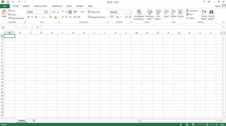 MIcrosoft spreadsheet