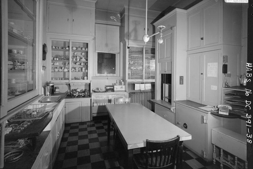 Vintage checkerboard floors in the Ringgold-Carroll House, Washington D.C.