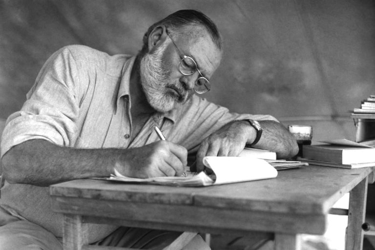 Hemingway on safari