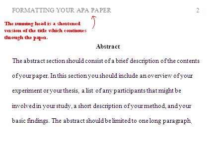 Apa formatting for headings and subheadings for Apa abstract page template