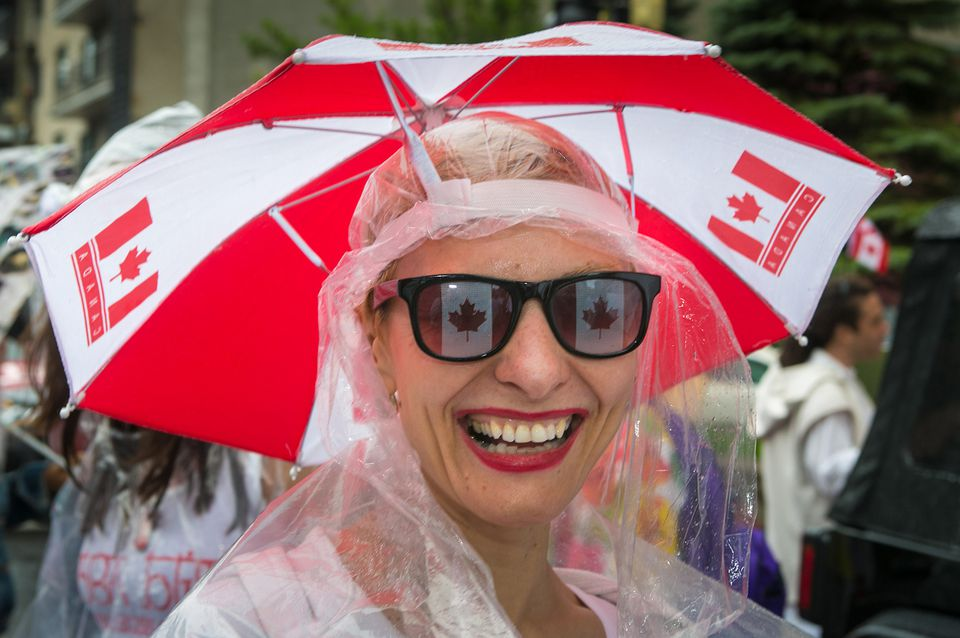 Open and closed Canada Day in Montreal July 1, 2017.