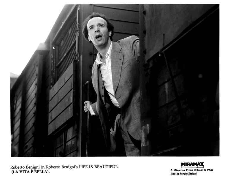 Actor Roberto Benigni in Life Is Beautiful