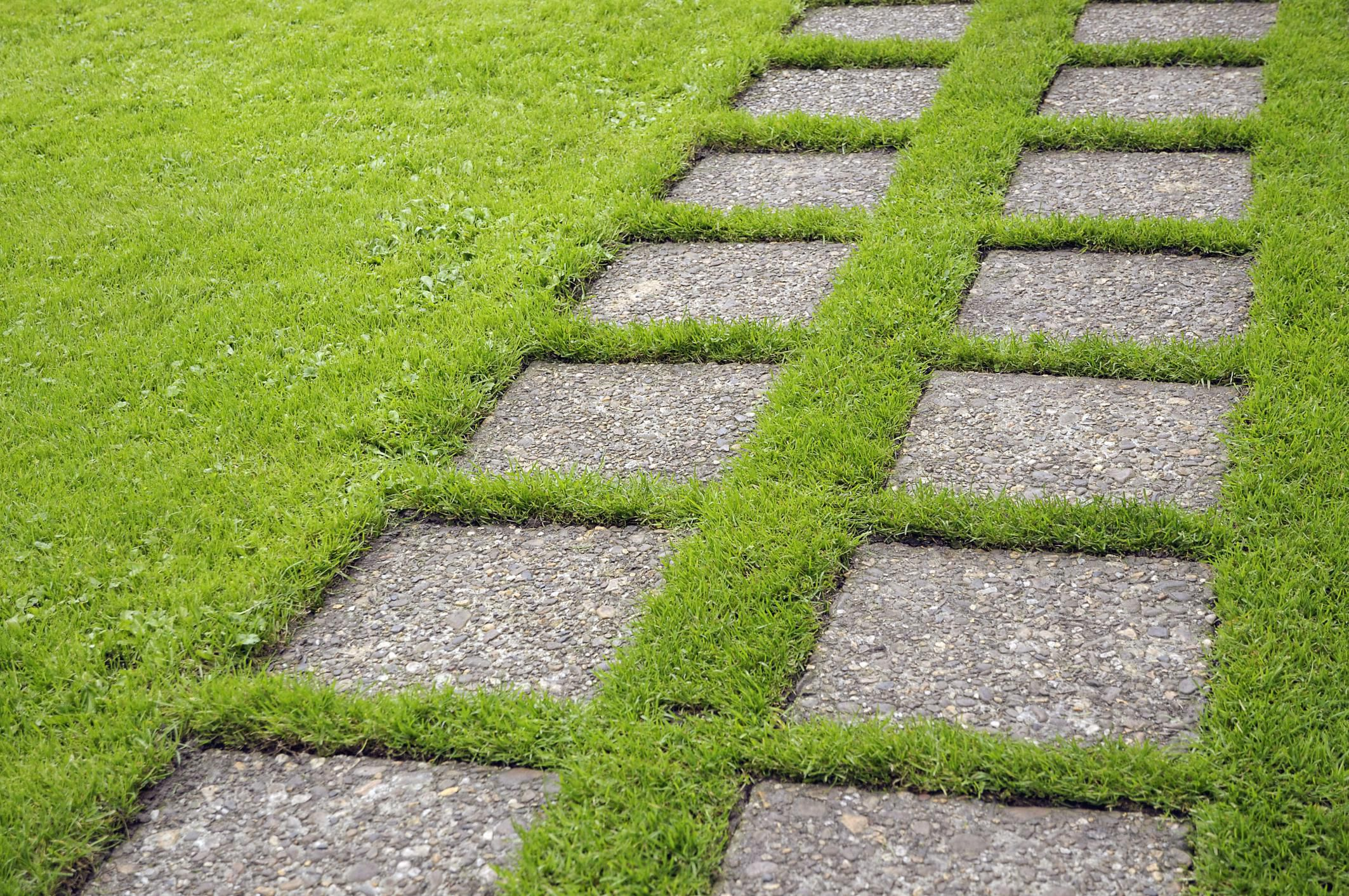 Granite Stepping Stones : Cement or concrete for stepping stones