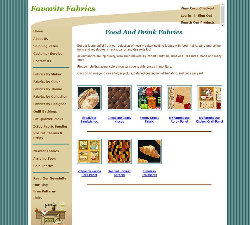 Food and Drink Fabrics