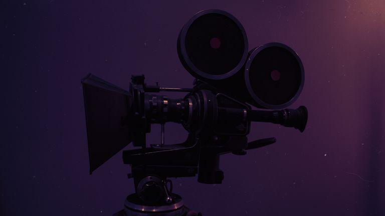 Retro Style Movie Camera