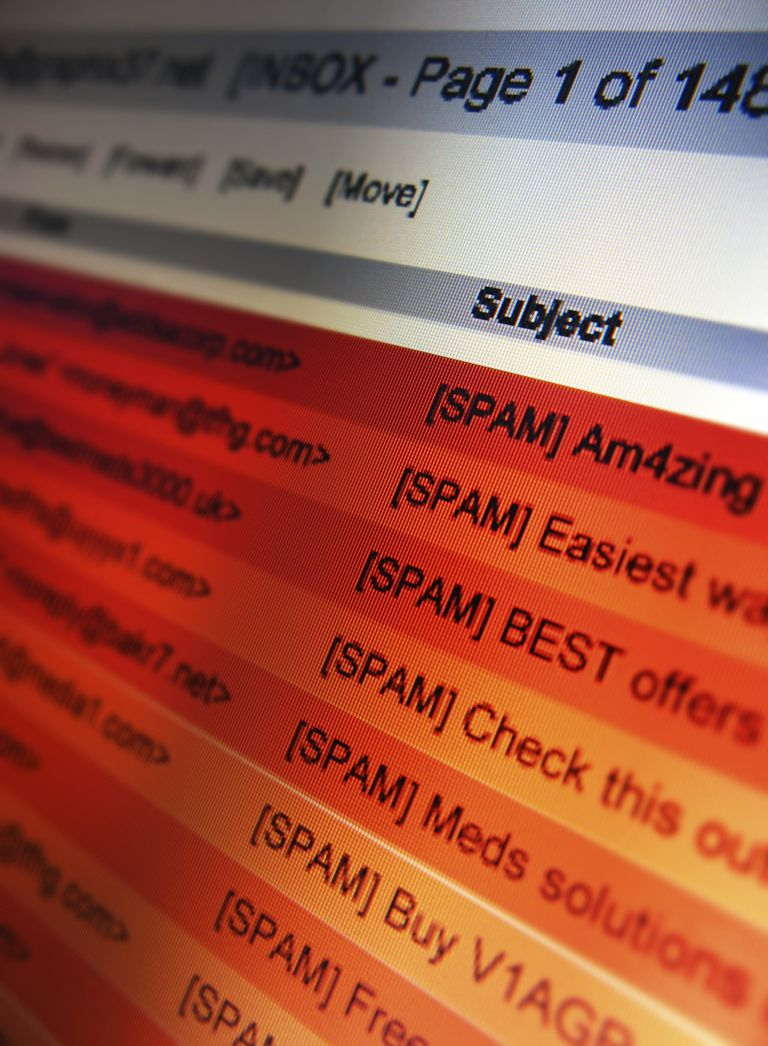Image of a spam folder.