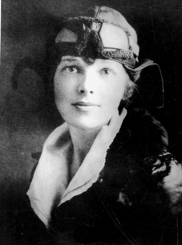 American Aviatrix Amelia Earhart. Photo by FPG/Getty Images.