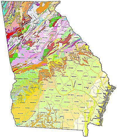 Geologic Maps Of The United States - Georgia map us