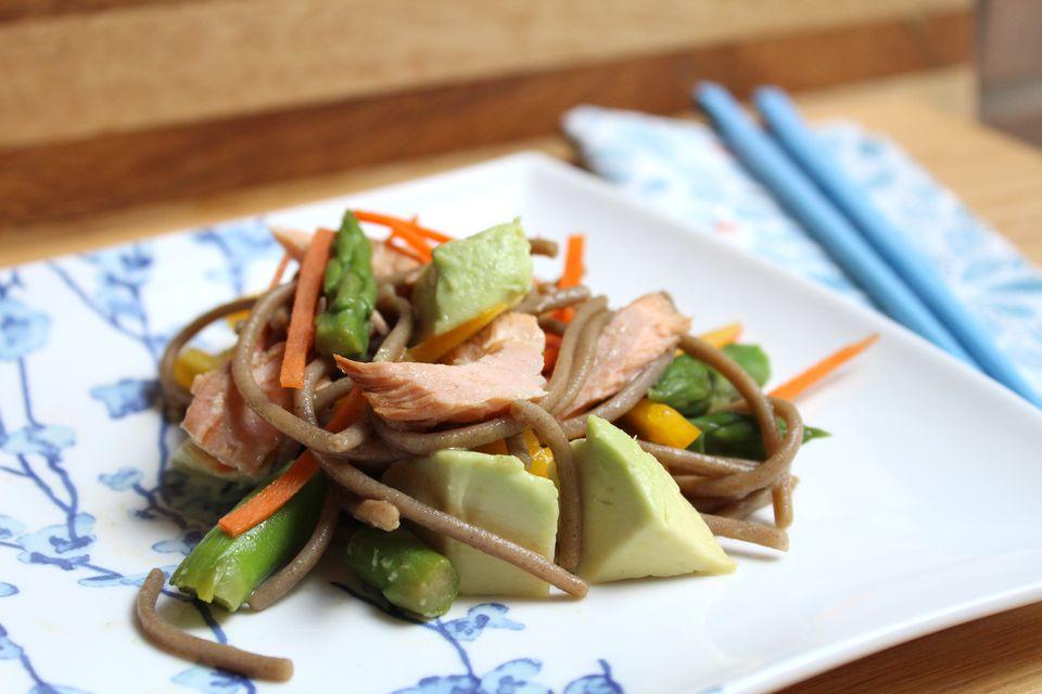 Soba Salad with Salmon and Avocado