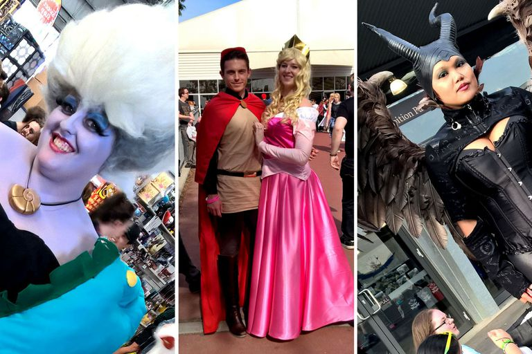 Ursula, Prince Phillip and Maleficent Disney Cosplayers