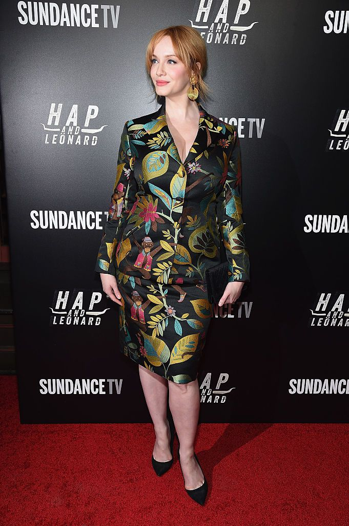 Actress Christina Hendricks attends the 'Hap and Leonard' New York screening at Hill Country on February 25, 2016 in New York City.