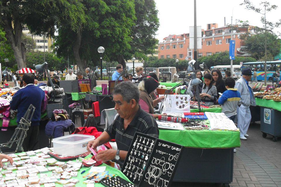 Mercado de Pulgas in Miraflores, Lima.