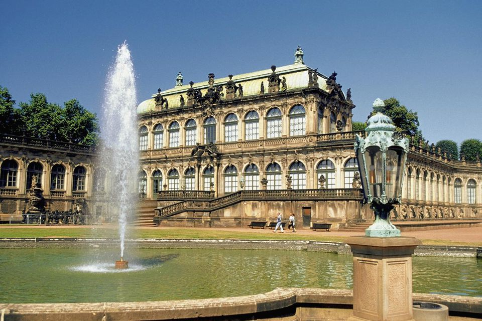 Fountain in front of the Zwinger Palace, Dresden, Germany