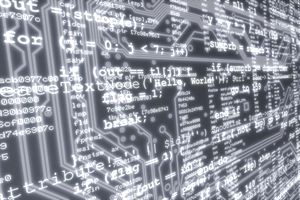 data on computer screen