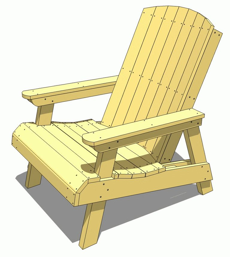 17 free adirondack chair plans you can diy today for Yellow wood plans
