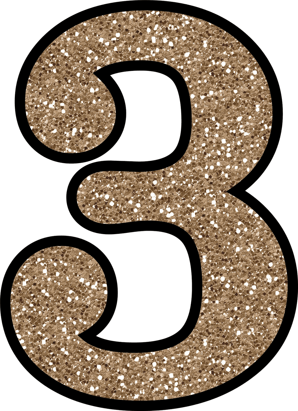 Free glitter numbers 0 9 to download and print for Printable number 3