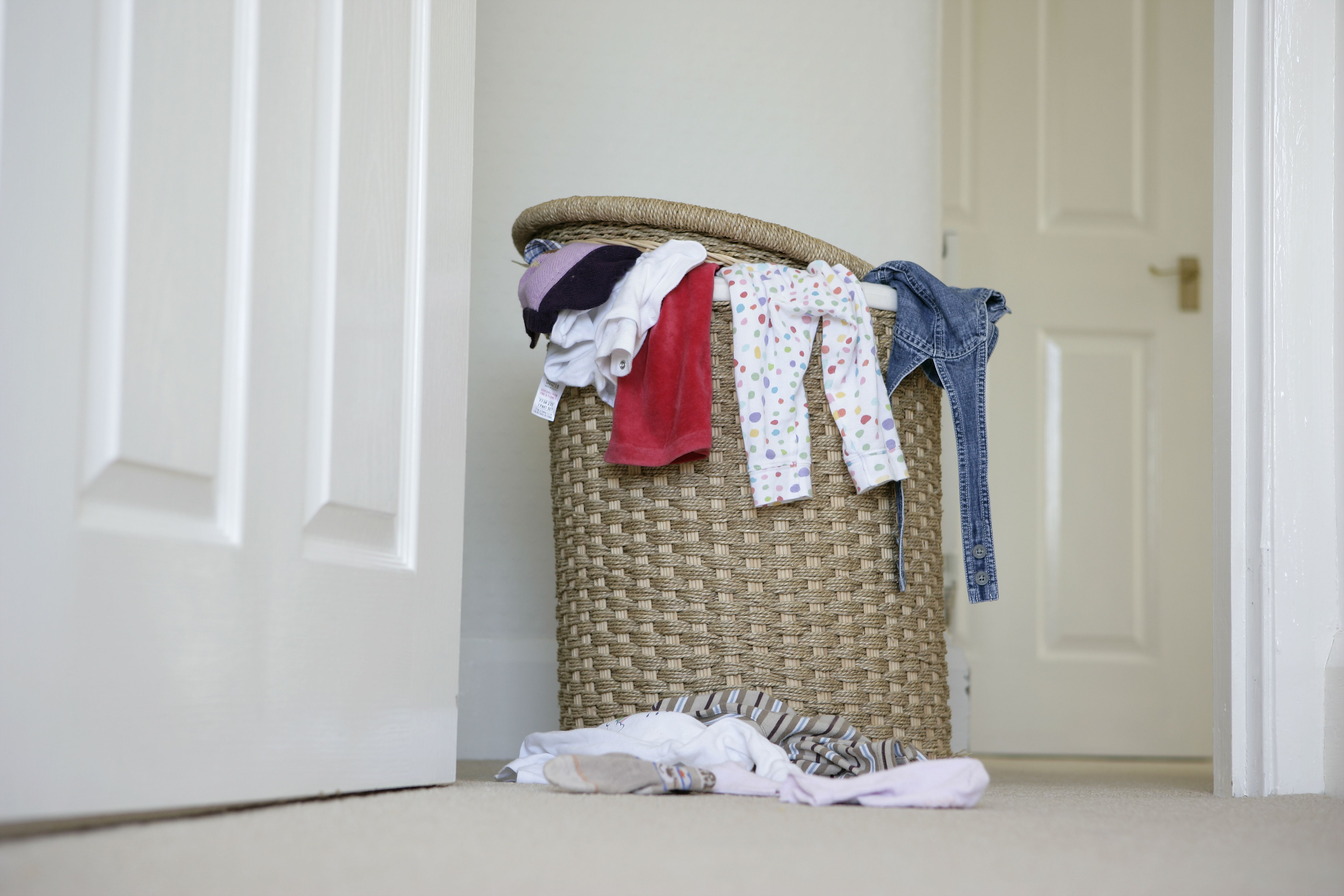 How to remove laundry hamper odor - How to get exterior paint out of clothes ...