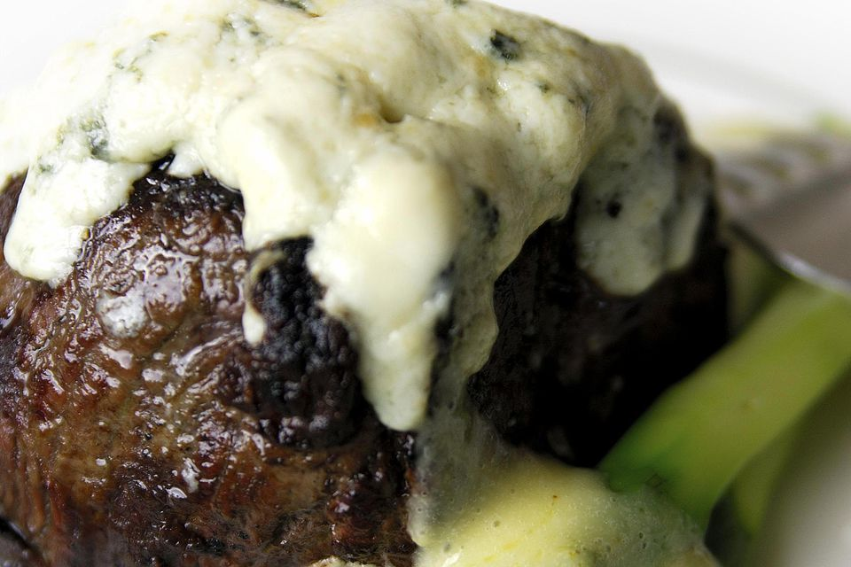 Gorgonzola crusted fillet mignon