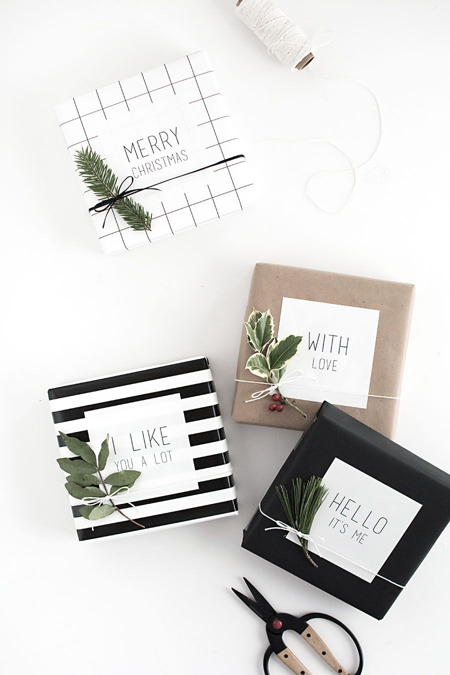 DIY Easy Gift Tag Stickers