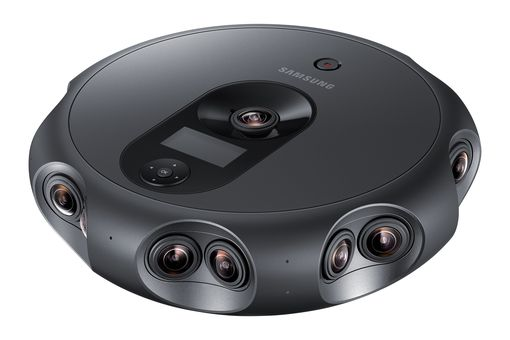 The Samsung Round 360 camera is a professional grade 4k, 3D camera designed for shooting virtual reality videos.