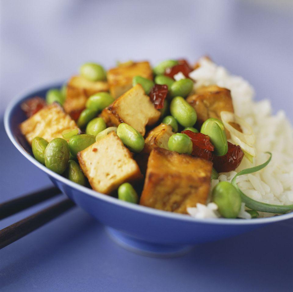 Sweet Ginger Tofu Rice Bowl