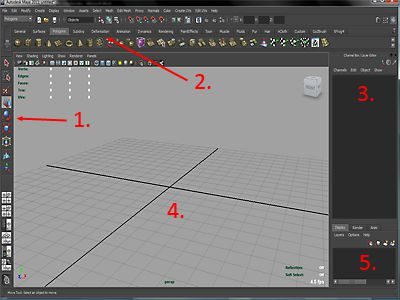 Maya default user interface