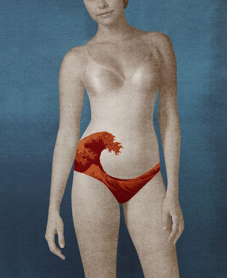 Creative interpretation of menstrual flow
